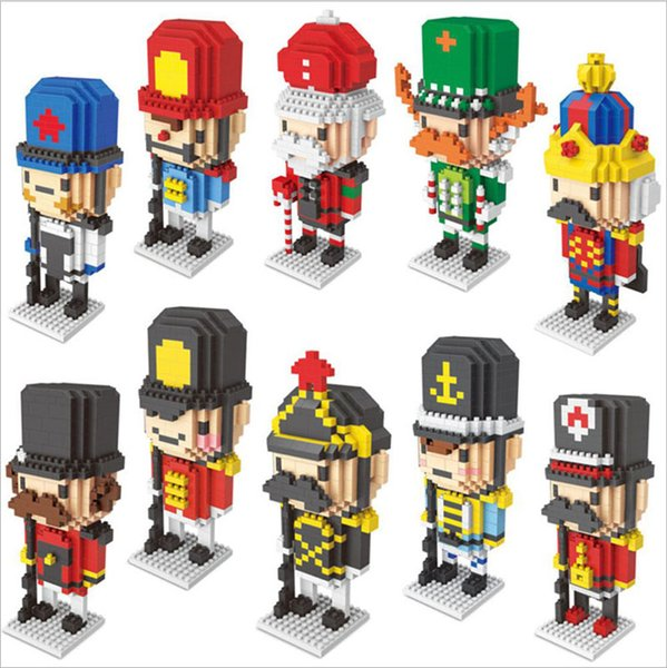 Wholesale LNO Nutcracker Soldier Series Assembled Building Blocks Mini Miniature Diamond Blocks Bricks Children's Education Toys DHL Free