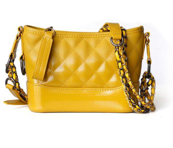 762202f33c88 Gabrielle Classic Hobo Metallic Chain Strap Quilted Calfskin Shoulder  Cross-body Bag Luxury Designer Inspired