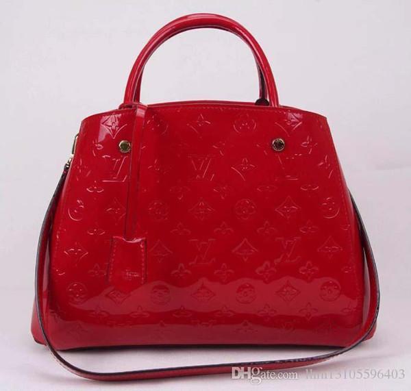 Montaigne Mm Medium Handtasche M50167 Vernis Ledertop Oxidated Real Leather Iconic Bags Umhängetasche Totes Cross Body Business-Taschen
