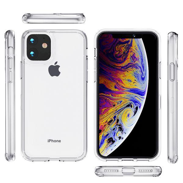 Pour iphone 11 pro max. Etui de téléphone transparent. Pour galaxy A20. Pour LG stylo 5 k40 aristo 3 plus acrylique clair C