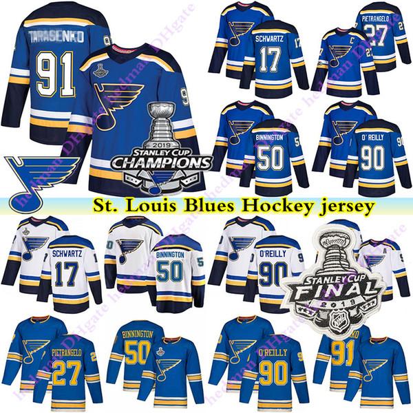 2019stanley cup champion st louis blues jersey vladimir tarasenko ryan oreilly jaden schwartz patrick maroon binnington perron hockey jersey