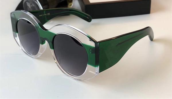 Lujo- Gafas de diseñador de lujo Gafas de sol con montura redonda Elegante con montura de diseño especial Lente circular incorporada Calidad superior Ven con estuche