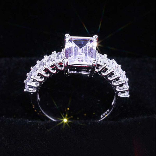 women Classical love ring fashion Female Wedding jewerly Shiny Ring Valentine's Day Jewelry Gifts top quality wholesale