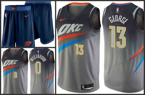 sports shoes 44e1c c7c7f 2019 2018 19 Oklahoma City Men Thunder Jersey #13 Paul George 0 Russell  Westbrook OKC City Edition Jerseys From Nfl_jersey01, $20.31 | DHgate.Com