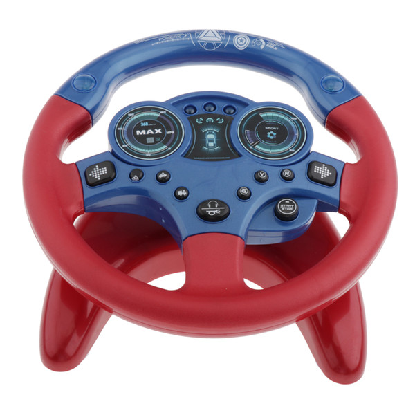 best selling Toddlers Steering Wheel Toy Cars Simulated Driving Steering Wheel with Suction Cup Sound Turn and Learn Driver Toy Portable Pretend Play Toy