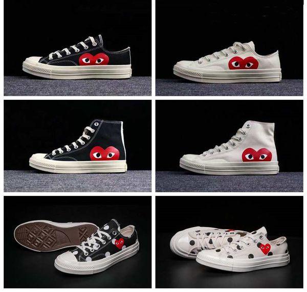 1970 s Beyaz Tuval Paten Ayakkabı Orijinalleri Klasik 1970 Kanvas Ayakkabılar Ortak Adı CDG Büyük Gözler Kaymaz Spor Rahat SneakersEUR36-44 Oyna