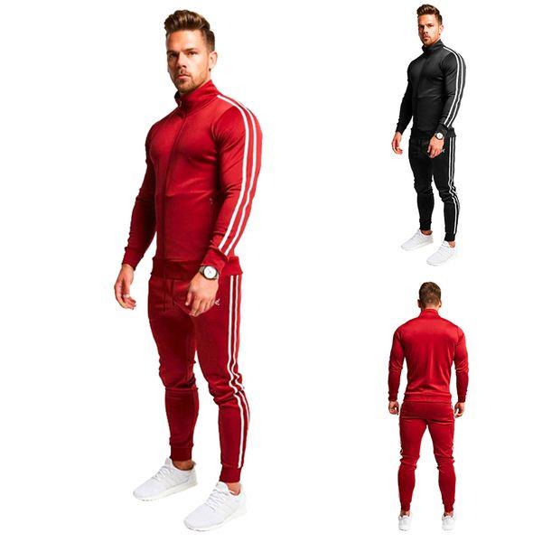 best selling Men Sportswear two pieces Sweatshirts Spring Autumn Jogger Sporting Suit Mens Sweat Suits Tracksuits Set Pants Leisure Suit Plus Size M-2XL