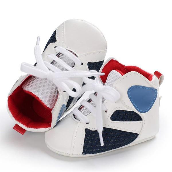 WEIXINBUY Infantil Sapatos de Bebê Tênis Meninos PU Casuais Sapatos Da Criança Anti-Escorregar Respirável Primeiros Caminhantes