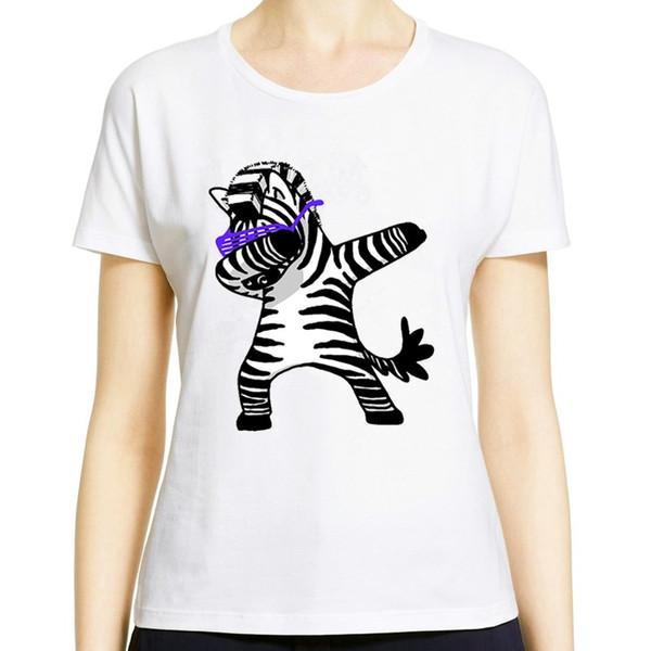 Women T-Shirt short sleeve New Style Summer crew nrck color white Printing Kitten Fashion tshirt rainbow kitten pony Bunny panda zebra