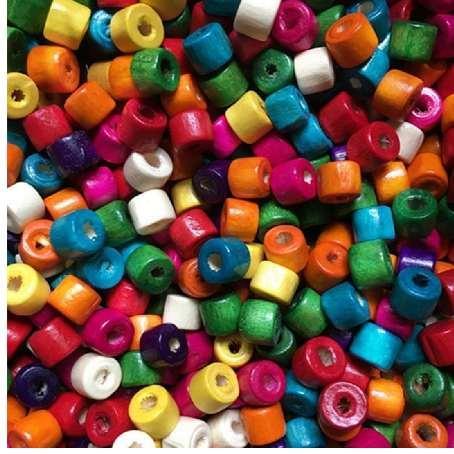 100pcs / lot 3 * 4/4 * 5/6 * 7mm diy hot oval perlen holzperlen lose perlen für schmuck machen armband halskette zubehör großhandel