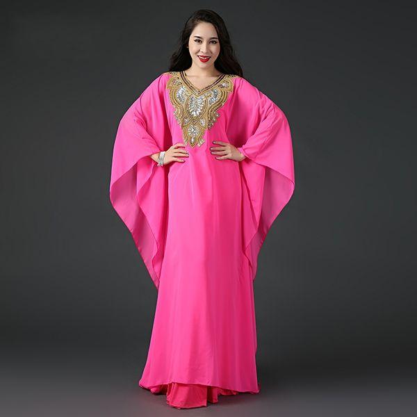 Abaya Dubai Islâmico Kaftan Chiffon De Cristal Árabe Vestidos de Noite Mangas Compridas Frisado Prom Vestidos de Festa Vestidos de Baile Custom Made HY4212
