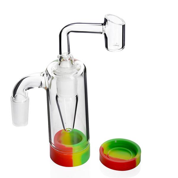 Capteur de cendres de verre avec joint de silicone 10ML 14MM-14MM joint pour pipe à eau en verre bangs Verre ashcatcher Livraison gratuite