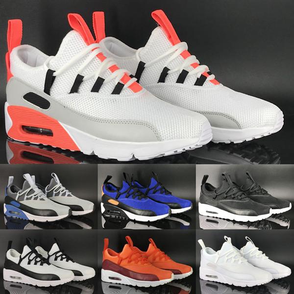 Compre Nike Air Max Airmax 90 EZ Venta Caliente 90 EZ Zapatos Casuales De Lujo Para Alta Calidad 90 S Negro Blanco Amarillo Gris Hombres Mujeres Moda