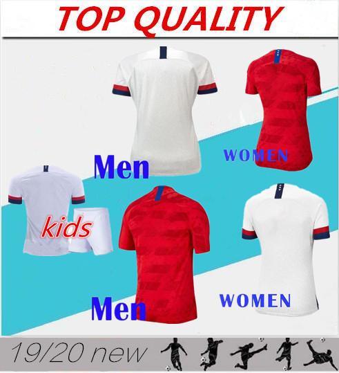 Männer + Kinder 2019 WM Amerika Fußball Trikot USA Trikot 19 20 USA PULISIC LLOYD KRIEGER Frau Fußball Uniform