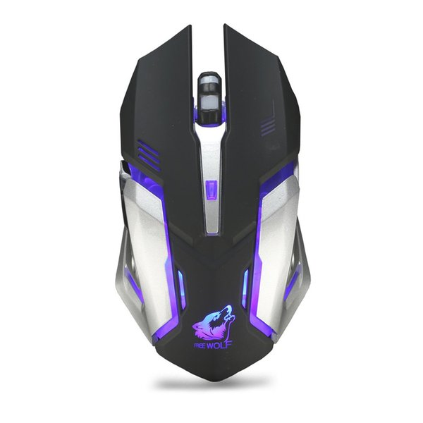 X7 wireless mouse rechargeable gaming mouse mute desktop for computer notebook lighting charging game