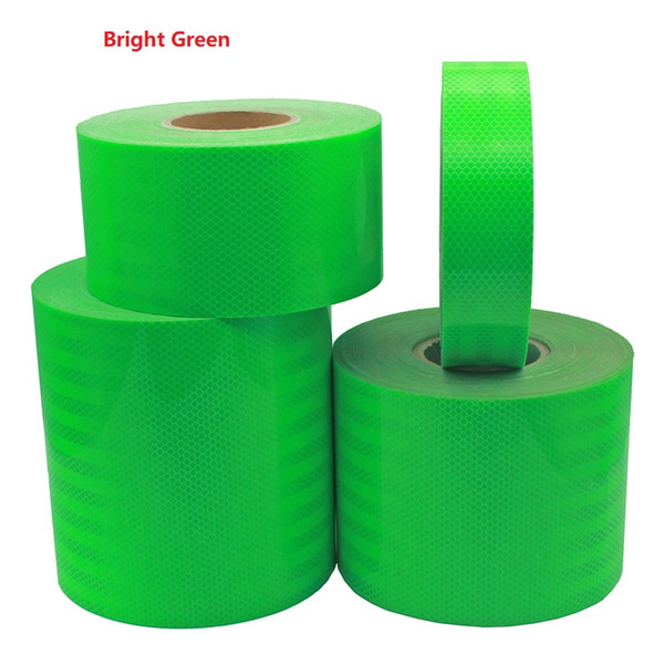 top popular High Light Super Strong Reflective Car Decoratiive Sticker Fluorescent Green Self-adhesive Tape Road Traffic Warning Sign 2021