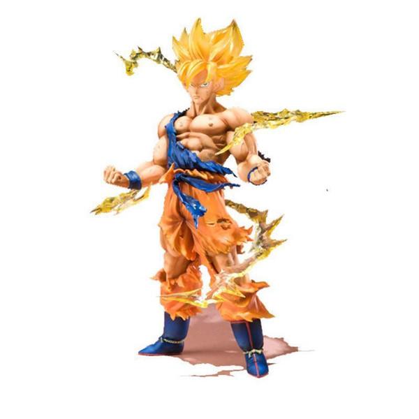 Bandai Original Box Anime Dragon Ball Z Action Figures Super Saiyan Son Goku PVC Model Collection Dragonball Figurine Kids Toys Y190529