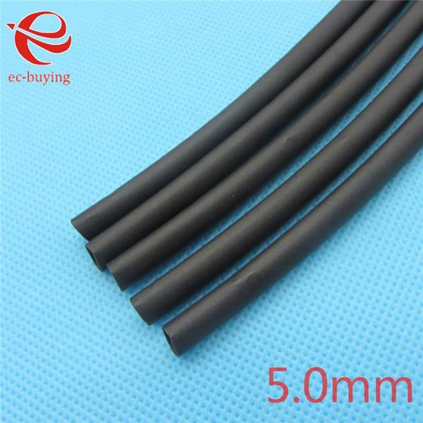Toptan-1m Isı Boru İzolasyon Sleeve Heatshrink Boru 125 santigrat Siyah Boru Tel Wrap Kablo Kiti İç Çapı 5mm Küçült