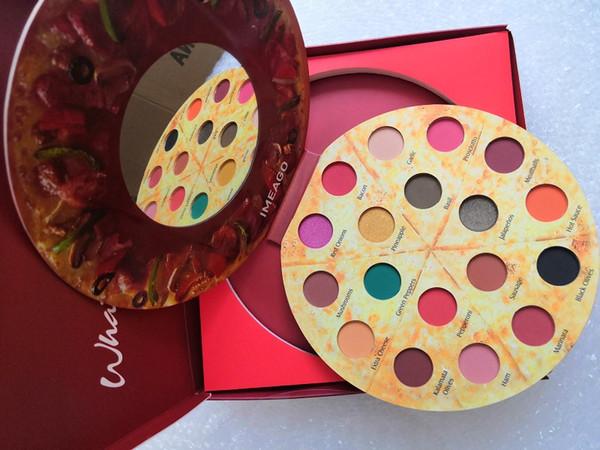 2019 nouvelle couleur pizza 18 fard à paupières couleur étincelant, mat 18 couleur ombre à paupières palette ombre à paupières