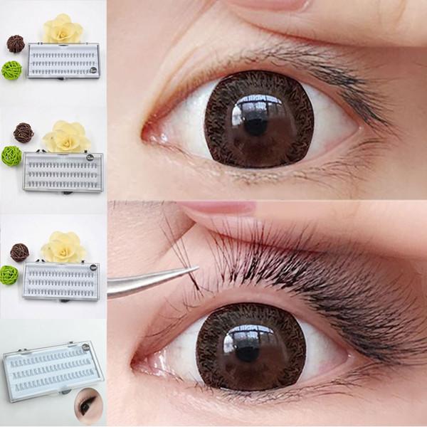 60PC/Set Individual Black Mink Fake Handmade False Natural Long Eyelashes Extension Makeup Eye Lashes 8/10/12/14mm OA66