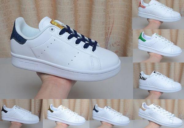 Hakiki deri Stan Smith Tasarımcı ayakkabı erkek kadın Chaussures Zebra Çiçek Üçlü Beyaz Siyah Kaykay Spor Sneakers Koşu ayakkabıları