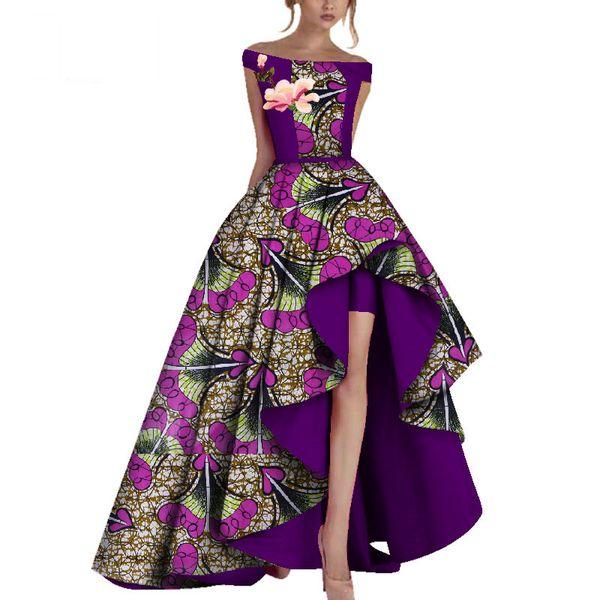 Robes De Soirée D'hiver Femmes Dashiki Africa Imprimer Cire Vêtements Africains Bazin Riche Afrique Robe Sexy Pour Les Femmes WY3505