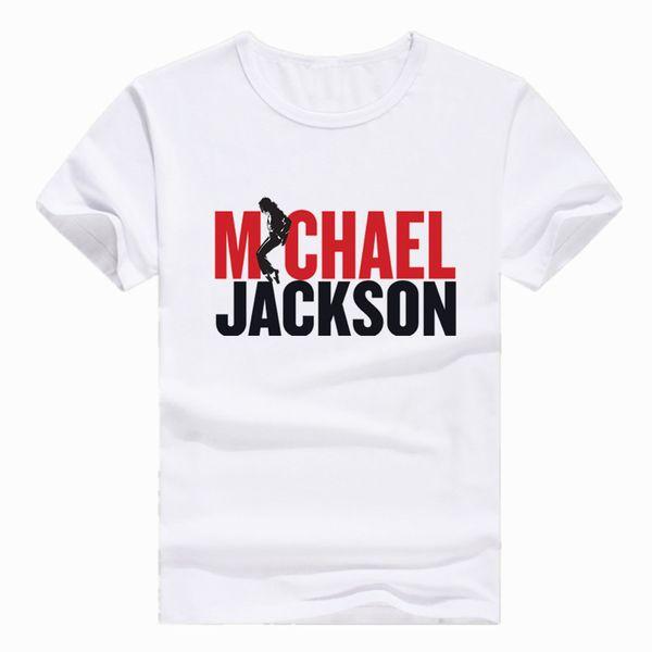 Taille asiatique Imprimer MJ Produit à Michael Jackson Commémorer T-shirt à manches courtes O-Neck T-shirt pour les hommes Streetwear femmes HCP713