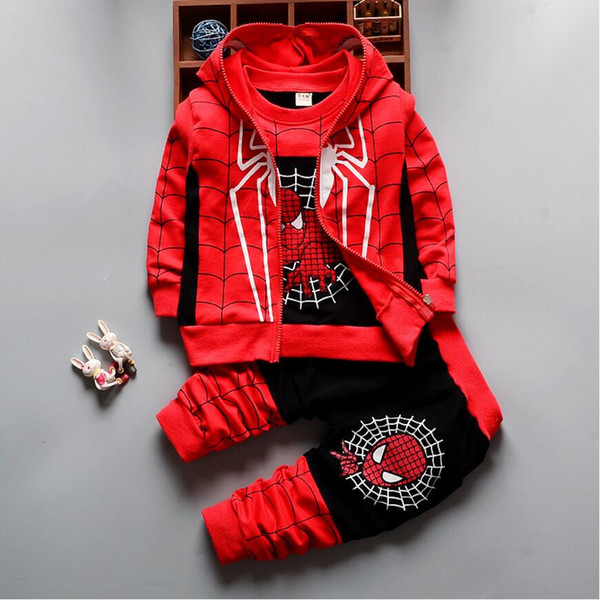 Baby Boys Clothing Sets 1 2 3 4 5 6 Years Kids jacket+Shirt+Pants 3 Pcs Children Sport Suits Boys Girls Clothes Set Holiday Wear