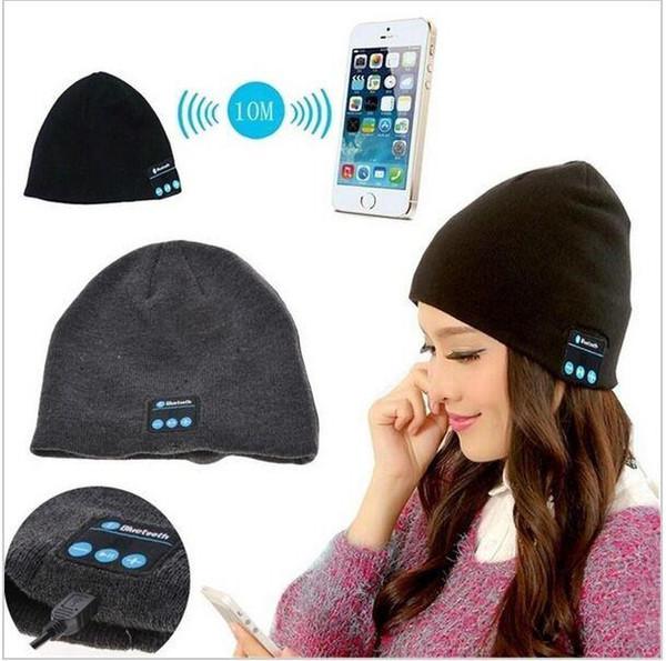 2019 Bluetooth Music Beanie Hat Wireless Smart Cap Headset Headphone Speaker Microphone Handsfree Music Hat Knitted Cap More Colour