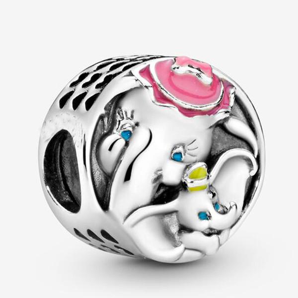 Convient authentiques Bracelet à breloques Pandora Dumbo Mme Jumbo argent Sterling 925 Pendentifs Charms Beads Charms style bricolage Bijoux