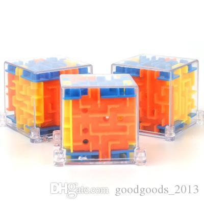 4*4cm Puzzle Maze Magic Cube Toys gift 3D Mini Speed Cube Puzzles Labyrinth Rolling Ball Cubos Magicos Learning Toy for Children Adults z215