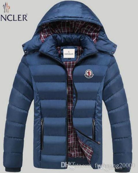 2019 Winter neue Männer Selbst-Anbau und umfassender Sport Reißverschluss Art und Weise beiläufige dünne dünnen unten Jacke mit Kapuze Daunenjacke