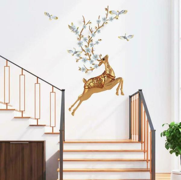 3D Elk Deer Door Wall Fridge Sticker Decal Self Adhesive Kid/'s Home Decor