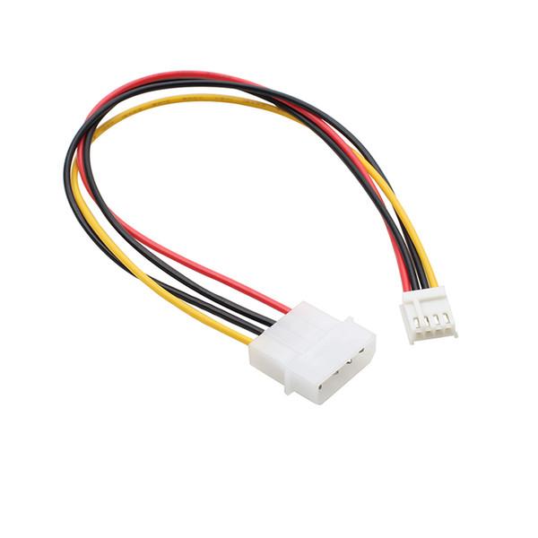 100 pcs Power Converter Adapter Cable 4 pin LP4 Molex Plug to 4 pin Female