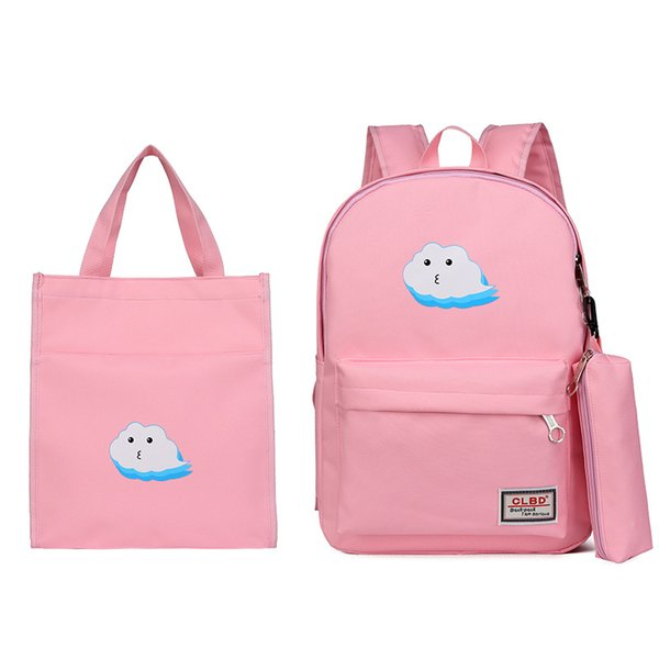 2pcs/Set Laptop children School Backpacks for Girls Boys Teenagers Female Bagpack Sac A Dos Femme Cute Cat Canvas Satchel Kids