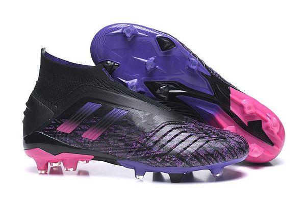 2020 Hot Predator 19+ 19,1 FG PP Paul Pogba Laceless virtuso Goldene Herren Jungen Fußball-Fußball-Schuhe 19 + x Klampen Boots Günstige Größe 39-45