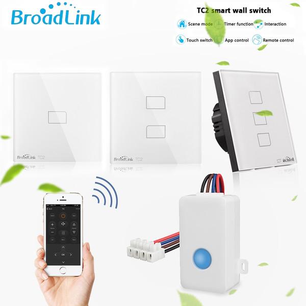 Broadlink Smart Home Sc1 Tc2 Wifi Switch 1 2 3 Gang Eu Light Switch Touch Panel Wifi Remote Control Work With Alexa Google Home Smart Home Ideas Smart