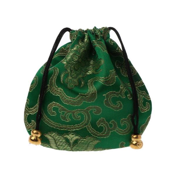 Традиционный шелковый мешок перемещения Классический китайский вышивки ювелирных изделий устроителя мешка 634D
