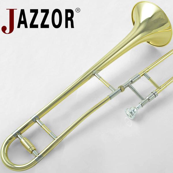 Профессиональный JAZZOR JYTB-E100 Альт тромбон B плоский золотой лак латунь тромбон духовой инструмент с тромбон мундштук и корпус