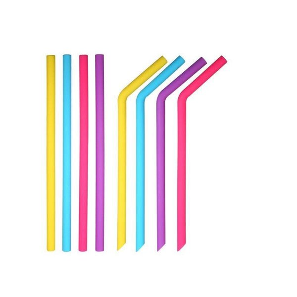Silicone Straw Eco Friendly Blue Orange Pink High Temperature Resistance Tubularis Children 25 Cm Simple Fashion Straws 1 2dxD1