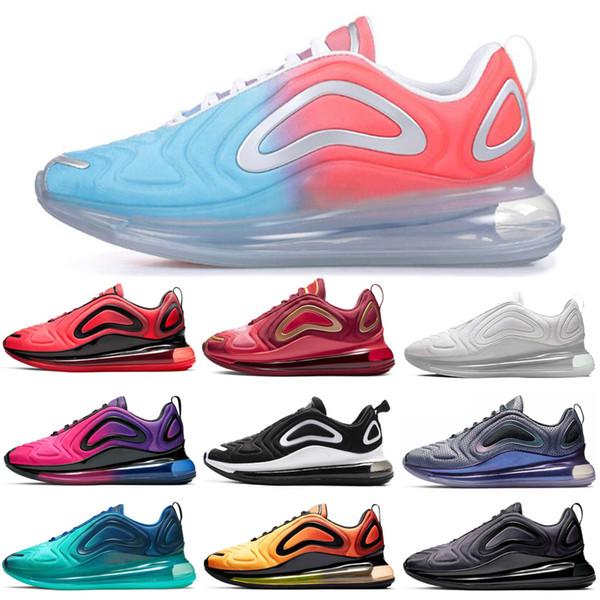 Nike Air Max 720 Shoes Zapatillas De Deporte Negro Blanco Rojo Puesta De Sol Gris Carbono Mujeres Hombres Zapatillas De Deporte Zapatillas Deportivas