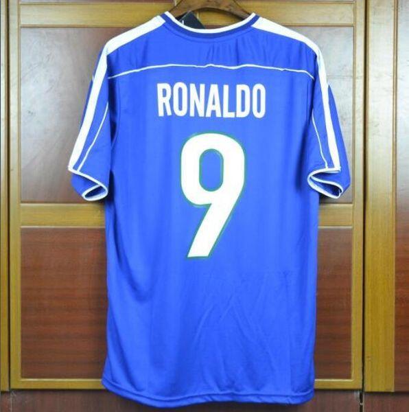 1998 away blue #9 RONALDO