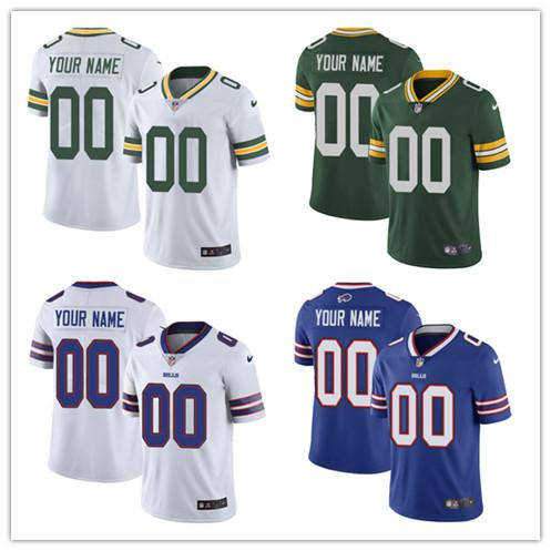 custom Green Bay Buffalo Men's Women's Youth 49ers Giants Jersey Any Your name and your number Kids Girls Bills Packers Football Jerseys