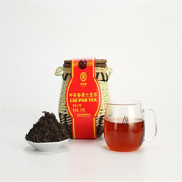 CHINA LIU PAO CHÁ 6166 Liupao Hei Cha Liu Bao Envelhecido Chá Preto Escuro Na Cesta 250g
