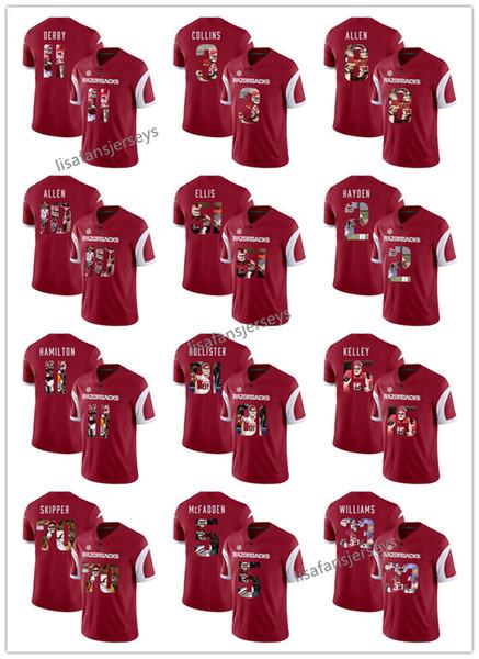 sale retailer 8d32b 10adf 2019 Mens Arkansas Razorbacks Jerseys 51 Brooks Ellis 2 Chase Hayden 11  Cobi Hamilton 55 Jeremiah Ledbetter Player Printed College Jersey From ...