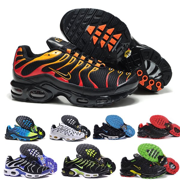 With Box Top Cheap Mens Womens Shoes Rainbow Green TN Ultra Sports Requin Sneakers air Caushion Running shoes 36-46 HV8-28D