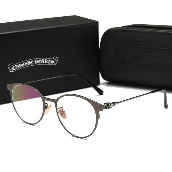 2019Chrome Hearts 8095 Top Stylis Trend роскошные солнцезащитные очки высокого класса для мужчин и женщин 51 мм UV400 поляризованные линзы очки Ray очки запрещают бренд