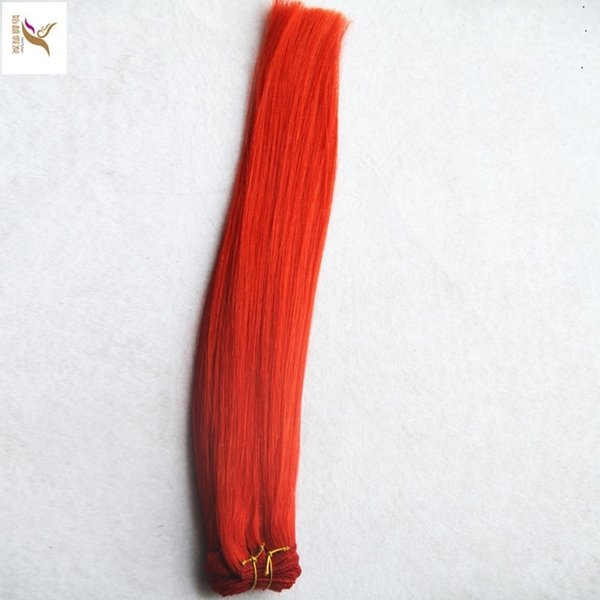 Bright Red Color 100% Human Hair Weave 10-30 Unprocessed Virgin Straight Hair Weaving 6a Double Weft Hair Extensions