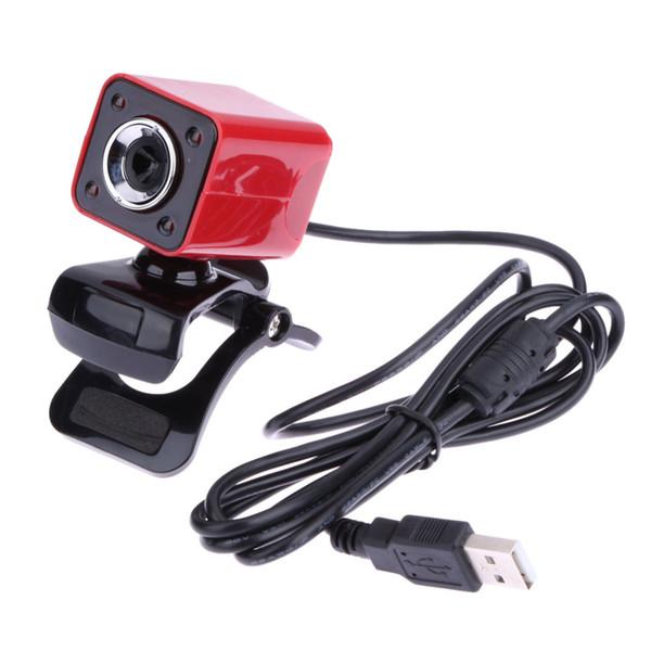 USB 2.0 de alta definición Full HD 1080P 12M Pixel 4 luces LED Cámara web Cámara giratoria de 360 grados con cámara MIC con PC para PC