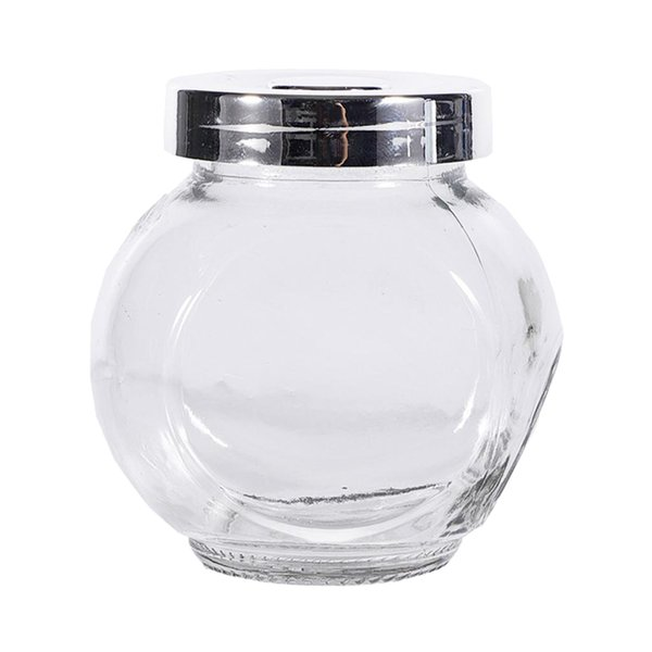 best selling Seasoning Bottle Double Glass Canisters with Stainless Lid for salt, pepper, chili, sauces, sugar,etc
